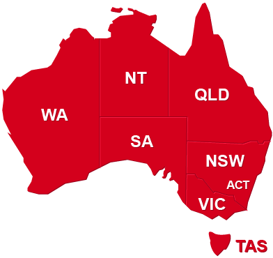 Clickable Map of Australia